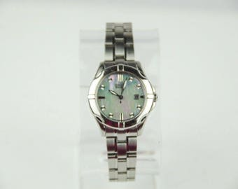 Beautiful Citizen Eco-Drive Women's Mother or Pearl Diamond Watch GN-4W-S