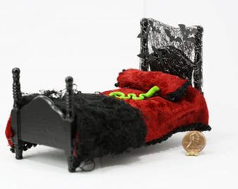 Witches Dressed Bed for Halloween