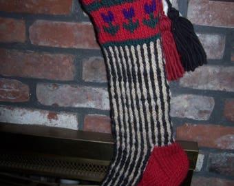 Vintage Hand Knit Christmas Stockings