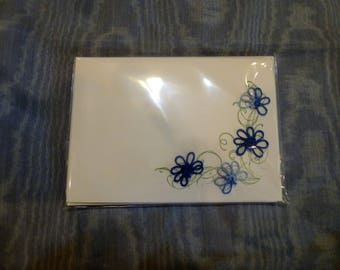 Packet of 4 hand tatted notecards with envelopes