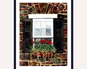 Scarlet Beauties Print || Watercolor Print