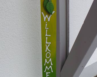 Welcome wood sign decoration