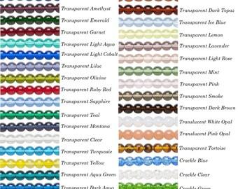 16 inch strand preciosa czech glass round druk beads 6mm, 6mm czech preciosa glass round beads druk, preciosa druk glass beads 6mm round.