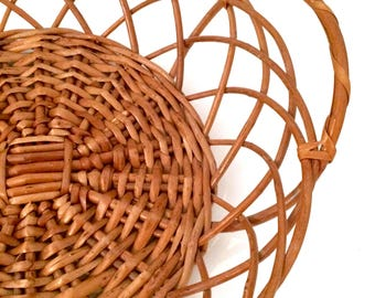 Rattan tray basket | Fruit basket | Table center | Wall basket