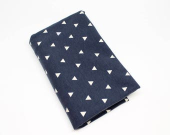Navy with White Triangles Swaddle Blanket
