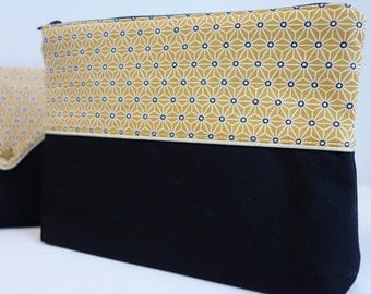 Yellow Saki - custom makeup pouch