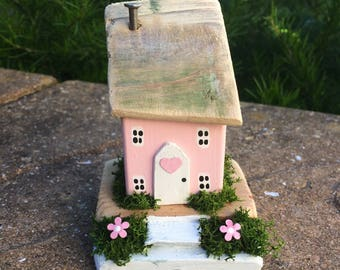 Miniature, Handmade, Collectable,Cottage, House, One of a kind, Wooden, Gift.