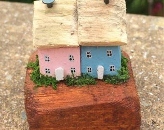 Miniature, Collectable Cottages/Houses, Handmade, Quirky, Gift, Unique.