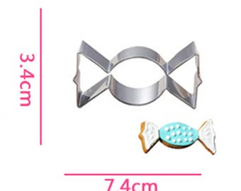 Candy Cookie Cutter - Fondant Biscuit Mold - Pastry Baking Tool Set