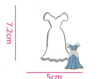 Evening Dress Cookie Cutter- Fondant Biscuit Mold - Pastry Baking Tool Set