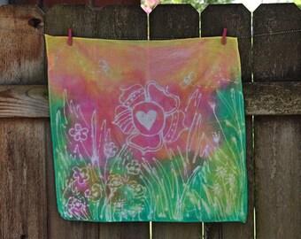 Bee Abstract Batik Tiny Tapestry