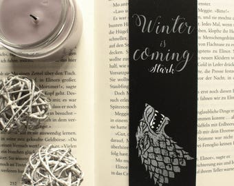 Game of Thrones Bookmark WINTER IS COMING Stark Wappen
