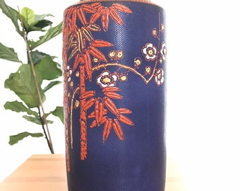 Fetched Decor: Asian-style Navy Vase
