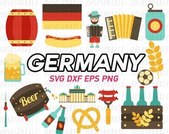 germany clipart,svg,eps,png,dxf,oktoberfest,cute,graphics,clip art,german,cut files,cricut,silhouette,bratwurst