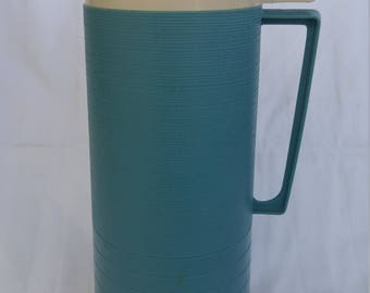 Vintage Thermos Blue and Red for Work, School or Camping 1960's