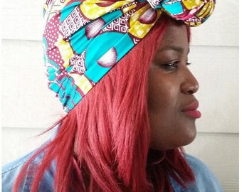 African head wrap. free matching tie