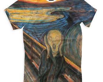 Edvard Munch The Scream Men's Women's T-Shirt Tank Top Sleeveless