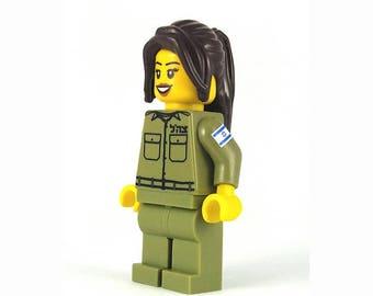 "Female IDF Mini-Figure ""Eden"" - Israeli Defense Force - Jewish Custom Lego® Set from JBrick"