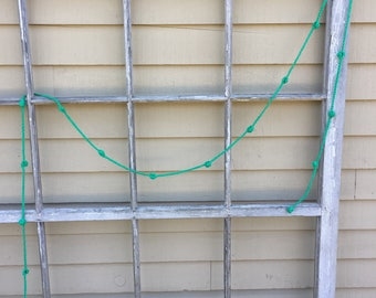 Crochet Garland in Emerald Green    9 Ft.    Party Decor    Home Decor