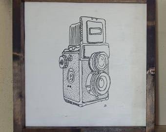 Vintage Camera Drawing 2