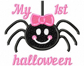 Spider applique,Spider design,Halloween Girl,halloween embroidery, halloween designs,girl spider,halloween applique ,1st halloween