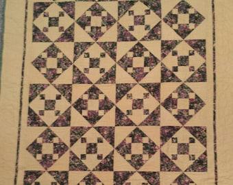 Flannel lap size quilt