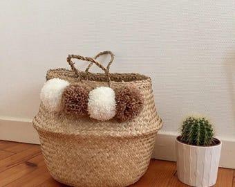 Tassels storage basket