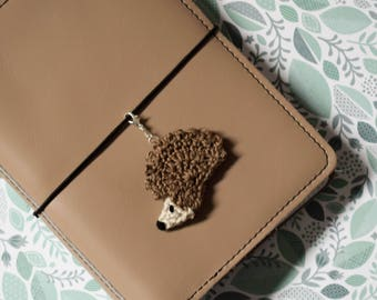 Crocheted Hedgehog Charm/Paperclip