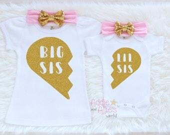 Big Sister Shirt, Matching Sister Outfits, Big Sister Outfit, Big Sister Little Sister Outfits, Little Sister Outfit, Sibling Outfits, SS7P