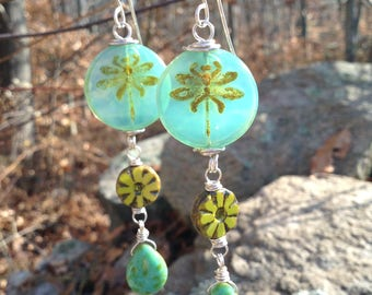 Dragonfly Beaded Earrings