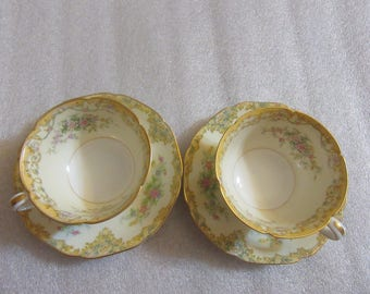 Pair of Teacup and Saucer