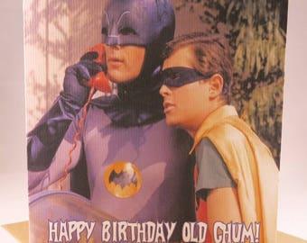 Batman and Robin Birthday Card For Men - Husband Boyfriend - 60's classic Adam West