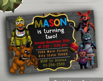 Five Nights at Freddys Party Supplies, Five Nights at Freddys Invitations, Five Nights at Freddys Party Favors, Five Nights at Freddys Party
