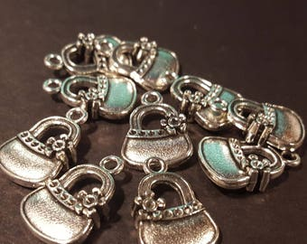 antiqued silver Double Sided Handbag Charm