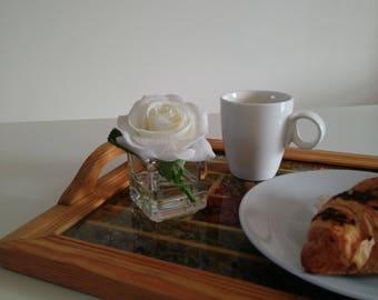 Real Touch Flower in Glass Vase - Artificial Flower Arrangement - Faux Silk Floral Arrangement