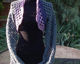 Edge of the Rainbow Crochet Bolero Shrug