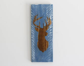 Engraved Pallet Wood Sign- Reindeer | Deer | Gift | Merry Christmas | Holidays | Home Decor | Rustic | Recycled |  Cabin | Sustainable