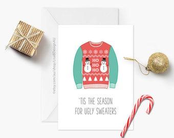 Christmas Card | Ugly Christmas Sweater | Xmas Card | Funny Christmas | Seasonal Card | Merry Xmas | 'Tis the Season | GCXCA602