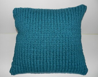 Square cushion in cotton knitted trapillo vintage spirit