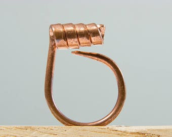Viking jewelry, Viking ring, Celtic ring, Celtic jewelry, Symbol ring, Symbol jewelry, Minimalist ring, Spiral ring, Copper ring, Vegan ring
