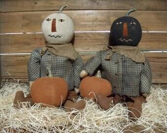 Primitive Pumpkin head Doll/Pumpkin Pete/primitive Fall Harvest doll/primitive Halloween Jack Fall/Primitive Thanksgiving/primitive doll