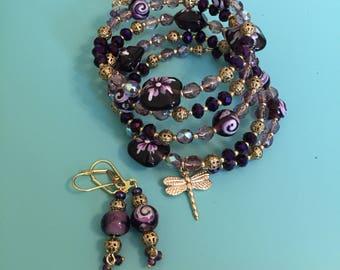 Beaded Bracelet / Charm Bracelet / Wrap Bracelet / Gold Bracelet / Statement Bracelet / Women's Bracelet / Gift For Her /