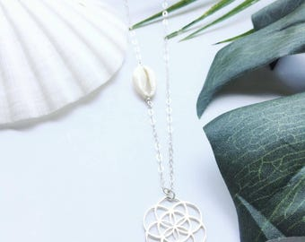 Flower of life silver necklace