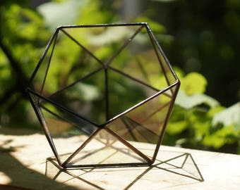 "HandMade unique glass box ""Icosahedron"" in the Tiffany style"