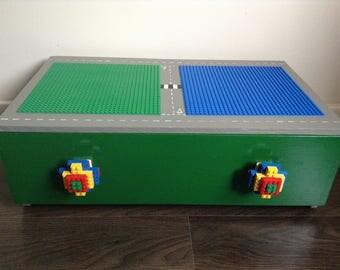 Lego® storage box / underbed storage / wooden storage box