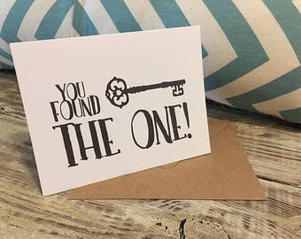 You Found the One with Key (RUSTIC) - Stationery Set of 15