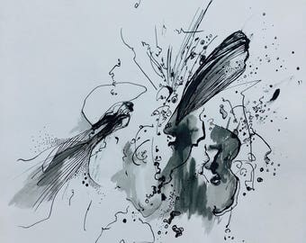 Abstract ink Print limited edition