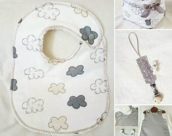 """Baby set """"head in clouds"""""""