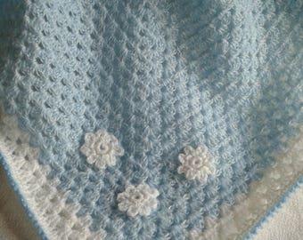 baby soft blanket, crocheted.