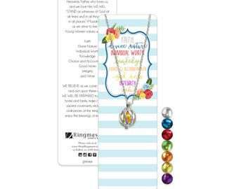 JNY060 - Young Women Interchangeable Necklace & Bookmark